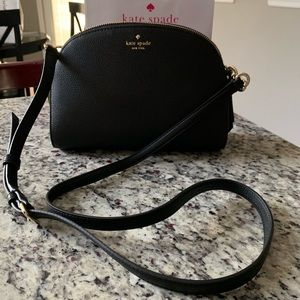 NWT Authentic Kate Spade Black Leather Crossbody